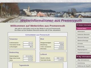Private Wetterstation Premenreuth