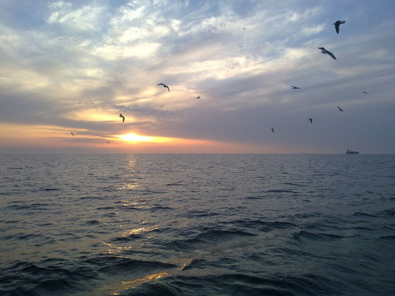 Abendstimmung auf See