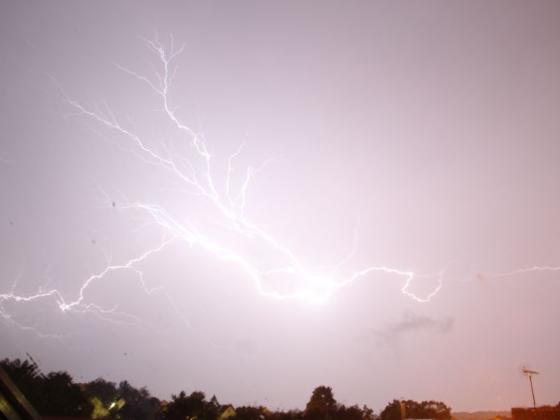 Blitze am 15 August