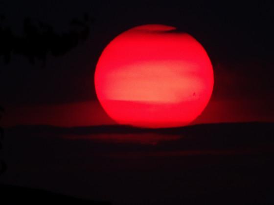 Sonnenuntergang in Großkoschen