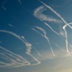 Flugzeugspuren