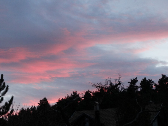 Wolkenbild bei Sonnenuntergang